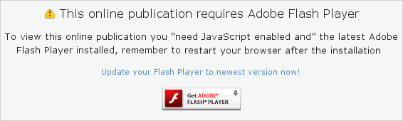 Install adobe flash player to see this publication.