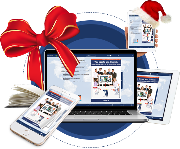 Create and design online Christmas magazine & catalog from pdf