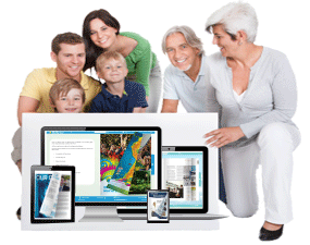 Publish in responsive design on any electronic platform - PC, Mac, Tablet and Smartphone